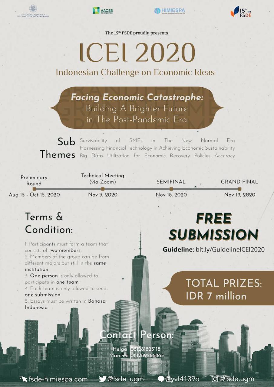 ICEI 2020 UGM - Indonesian Challenge on Econimic Ideas - eventapaaja